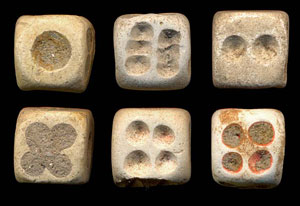Chinese dice (Song Dynasty, ca. 1000-1200 AD)