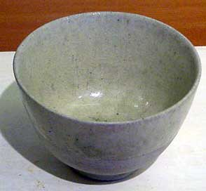 A plain gray clay cup