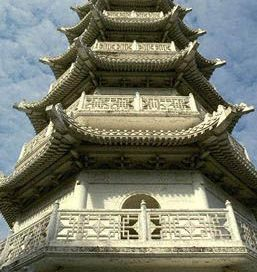 Song Dynasty pagoda - a tower building in layers of balconies