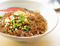 Sweet potato noodles from Sichuan in SW China