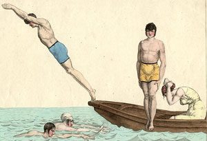 Swimming in Paris in 1810