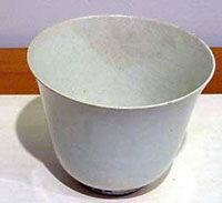 A plain white cup from the T'ang Dynasty