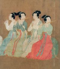 Flute playing women in pretty dresses (T'ang Dynasty China)
