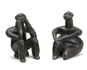 A thinking man and a sitting woman, Cernavoda, Romania, ca. 5000 BC