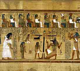 Thoth and the weighing of souls (New Kingdom, British Museum)