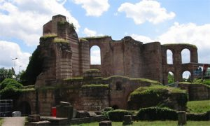 Roman bath building in Trier, in southern Germany, about 300 AD