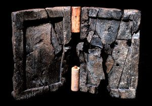Wax writing tablet from Uluburun shipwreck off the coast of modern Turkey (1300 BC)