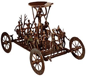Bronze wagon model (Urnfield culture, Austria, ca. 600 BC)