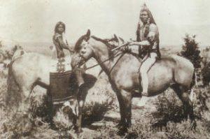 Utes on horses