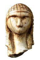 First carving of a human face (Brassempouy, France, ca. 25000 BC)
