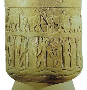 Wheat and barley on the Warka Vase (Sumeria, ca. 3200-3000 BC)