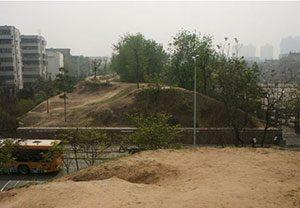 a dirt wall