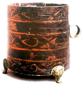 A lacquer box from the Zhou Dynasty