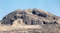 Remains of the ziggurat at Warka, in Iraq, 3000 BC