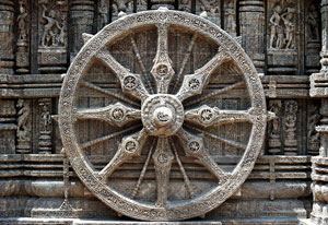 Wheel of Life (Konark Sun temple, Odisha, India, 1200s AD)