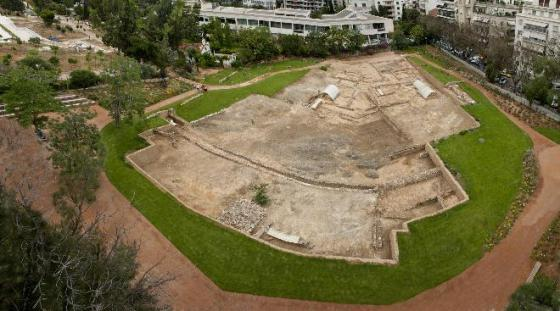 This is what's left today of Aristotle's school, the Lyceum - excavated foundation walls