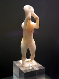 Cycladic flute player (now in Athens)