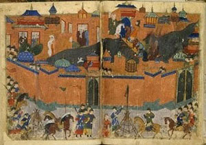 The walled city of Baghdad, not long after al Tabari