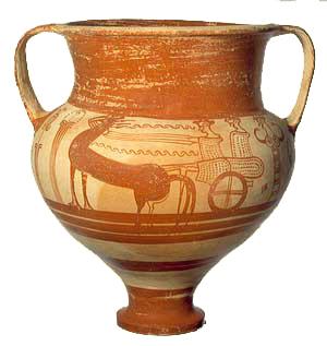 Late Bronze Age Mycenean vase