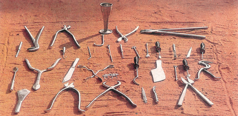 Replicas of the surgical tools Sushruta describes in his book