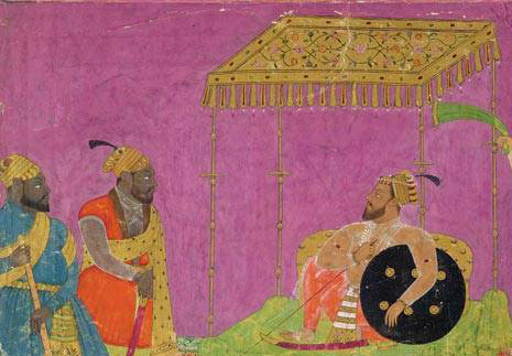 African servants with an Indian ruler: slavery in medieval India
