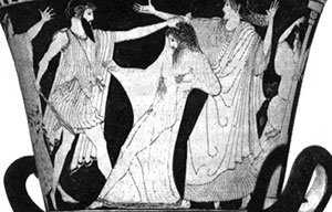 Aegisthus murdering Agamemnon: hubris definition