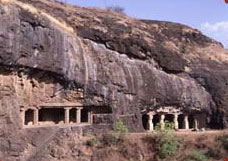 Rock-cut temples at Ajanta, India