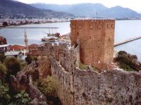 A Seljuk fort near Istanbul at Alanya, built in1226 AD