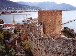 A Seljuk fort near Istanbul at Alanya, built in 1226 AD