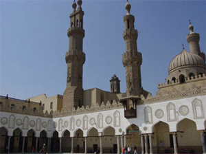 An Islamic mosque: Al-Azhar Mosque, Cairo (Egypt, 900s AD)