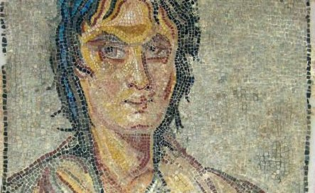 Roman mosaic of Alcibiades from Sparta