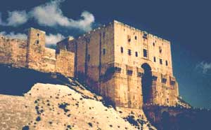 Citadel of Aleppo, Syria (built by Saladin, 1100s AD)