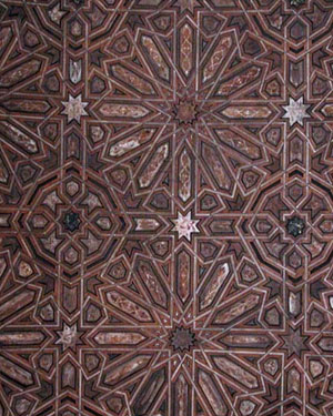 Wooden ceiling at the Alhambra