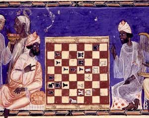 Muslims playing chess in Spain