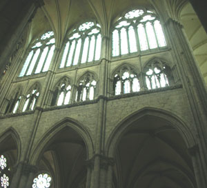 Elevation of Amiens cathedral (begun 1220 AD)