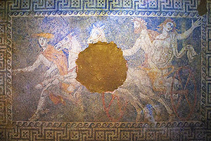 Another Macedonian tomb; another chance to see Hades kidnap Persephone (mosaic, Amphipolis, ca. 300 BC)