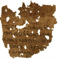 Papyrus with part of Sophocles' play Antigone written on it