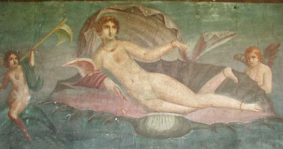 Birth of Aphrodite (from Pompeii, about 50 AD)