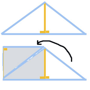 How to figure out the area of an isosceles triangle.