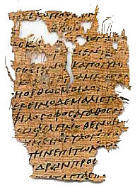 "An ancient Egyptian papyrus with a scrap of Aristotle's ""Politics"" - Aristotle philosopher"