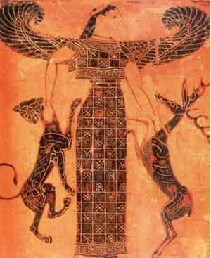 The Greek goddess Artemis - the moon goddess