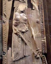 Artemis, carved in ivory in Constantinople (now in Cluny museum, Paris)