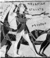 Atalanta (see her name misspelled on the vase?)
