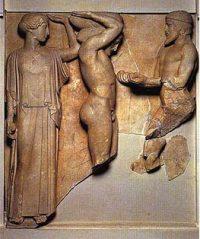 Hercules holds up the world.(Athenais helping him.)