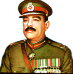 Ayub Khan of Pakistan: a middle-aged middle eastern man in a military uniform