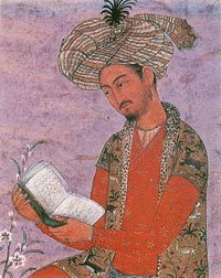 Painting of an Indian man in a turban - Babur, first Mughal ruler - Mughal Empire