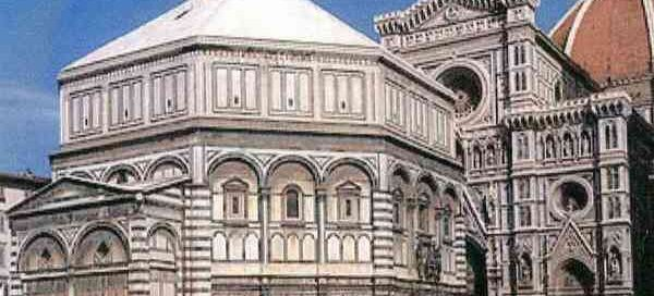 Romanesque baptistery in Florence, Italy