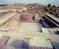 Bath building at Mohenjo-Daro, 2500 BC