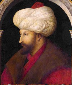 Sultan Mehmed II (by the Venetian painter Gentile Bellini, 1479 AD)