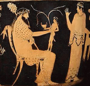 Birth of Dionysos from Zeus' thigh